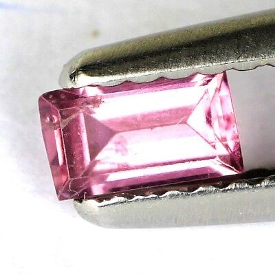 #*0.28 cts. 5 x 2.9 mm. UNHEATED NATURAL PURPLE SPINEL RECTANGLE BURMA