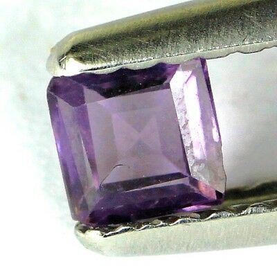 #*0.30 cts. 4 x 2 mm. UNHEATED NATURAL PURPLE SPINEL SQUARE BURMA