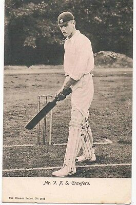 CRICKET - VIVIAN CRAWFORD, PLAYED FOR SURREY AND LEICESTERSHIRE COUNTIES, 1900s