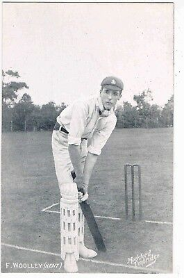 CRICKET - FRANK WOOLLEY, KENT COUNTY PLAYER AND ENGLAND PLAYER, 1900s