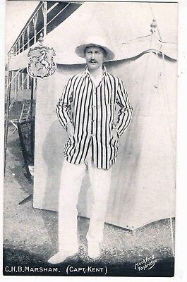 "CRICKET - CLOUDESLEY ""SLUG"" MARSHAM, PLAYED FOR KENT COUNTY CRICKET CLUB, 1900s"