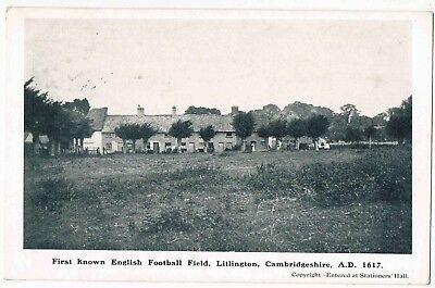 First Known English Football Field A.d.1617, Lillington, Cambridgrshire, 1910