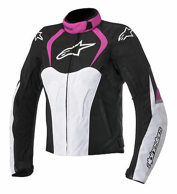 Alpinestars Stella T-Jaws Womens WP Motorcycle Jacket Black/Pink XL