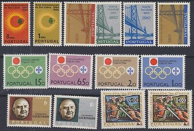 867) Portugal 1964 / 1966  Mint Never Hinged Complete Sets  - Perfect