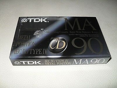 1 x  TDK MA 90 Metal Cassette von 1992   new OVP in top condition