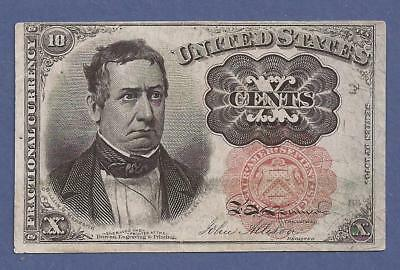 1874-1876 5th Issue 10¢ Fractional Currency,FR 1265,Meredith,Crisp VF,Nice!
