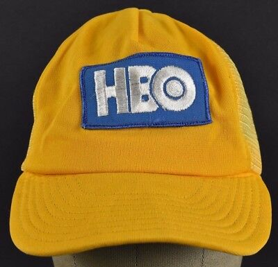 2213d9563d2cb Yellow HBO Cable Company Logo Embroidered Trucker hat cap Adjustable  Snapback