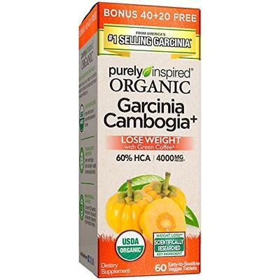Purely Inspired Organic Garcinia Cambogia+ 60 Tablets New