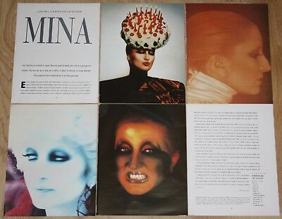 MINA MAZZINI 10 page 1990 spain magazine article photos italian singer clippings