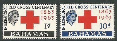 Bahamas 1963 Red Cross 100th Anniversary--Attractive Topical (183-84) MH