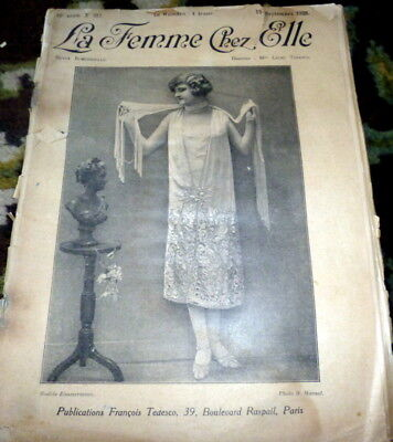 *VTG 1920s PARIS FASHION & SEWING PATTERN CATALOG  *EMBROIDERY TRANSFER*  1925