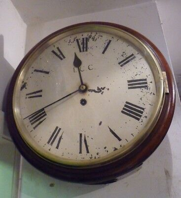Victorian Chain Fusee Wall Clock By Camerer Kuss For London County Council FWO