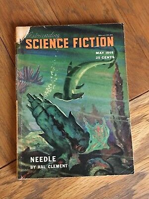 Astounding Science Fiction US SF digest May 1949 - Needle by Hal Clement etc