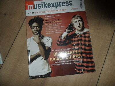 Musikexpress 2/2007 + CD 16 Seiten David Bowie,The Who,Lily Allen,Muse,Morrissey