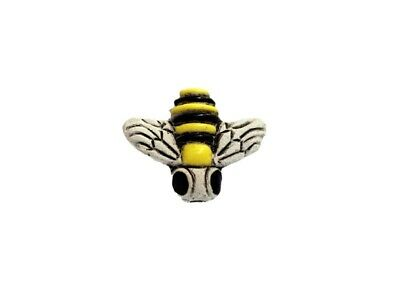 Hand Painted Honey Bee Ceramic Beads, Choice of Lot Size & Price