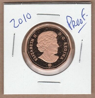 2010  Canadian Proof Loon Dollar Coin From Proof Set.