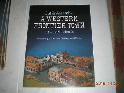 HO Scale  CUT AND ASSEMBLE Western Frontier Town- 10 Buildings