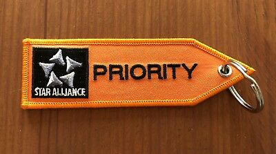 STAR ALLIANCE PRIORITY★Kofferanhänger Lufthansa First Class Remove before flight