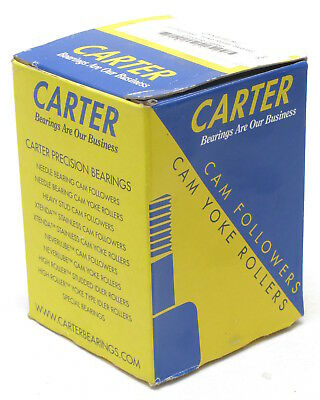 Carter CYNB-96-SC 3-inch Crowned Yoke Roller, Sealed, Chrome plated