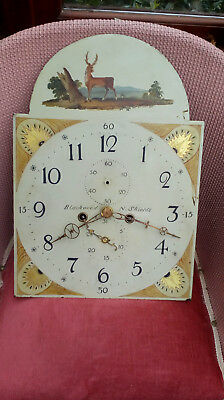Beautiful Antique Longcase  Clock Dial And Movement  Blackwood Northshields