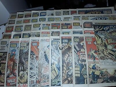 Joblot 2000Ad Featuring Judge Dredd Comics From 1984 Job Lot Of Approx 64