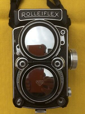 Rolleiflex Twin Lens Reflex w/ Xenotar F2.8 Type 1 + lenses, filters & bag