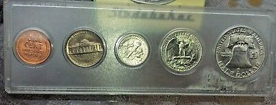 United State 1954 Coin Set in Whitman Plastic Holder - 5 Coin Set Uncirculated