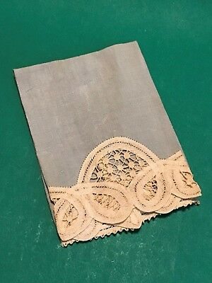 Antique Handkerchief Hanky For Women with Lace