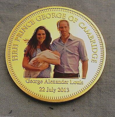 Baby Prince George Gold Coin House of Windsor Jewel God Save the Queen English