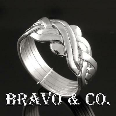 SIZE 12 Bravo & Co. Hallmark 925 Sterling Silver 6 pieces New PUZZLE Ring R-099