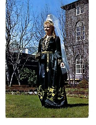 Mountain Queen-Lady in Typical Folk Ceremonial Costume-Iceland-Modern Postcard