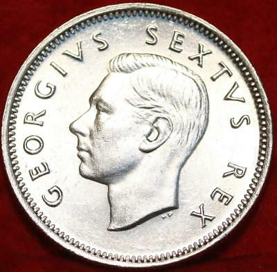 Uncirculated 1952 South Africa 1 Shilling Silver Foreign Coin