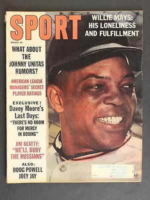 1963 SPORT MAGAZINE~GIANTS WILLIE MAYS~88 Pages~