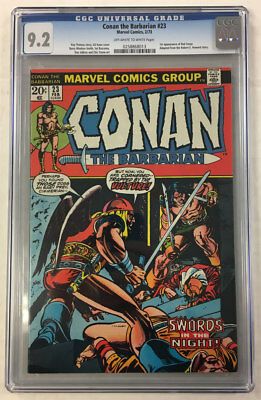 Cgc 9.2 Conan The Barbarian #23 1St Red Sonja Robert E. Howard Marvel Comic Book