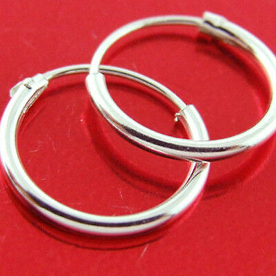 Hoop Earrings Sleeper Design Real 925 Sterling Silver Girls Small Kids Size