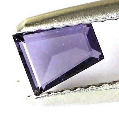 #*0.42 cts. 5.1 x 4.2 mm. UNHEATED NATURAL PURPLE SPINEL FANCY BURMA