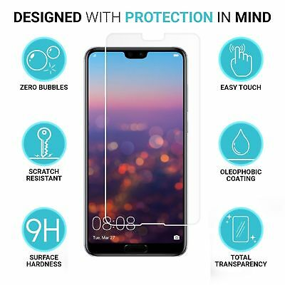 3X Tempered Glass Screen Protector Fr Huawei P20 Lite/Pro Y6 Y7 Y9 2018 Honor 10