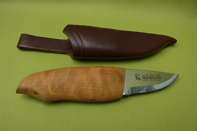 altes Messer - Jagdmesser - Holzgriff - Brusletto - Made in Norway