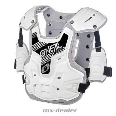 Oneal PXR  Stone Chield Brustpanzer Brustschutz mx Enduro motocross Quad weiß