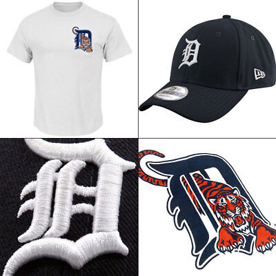 Detroit Tigers Officially Licenced MLB T shirt + New Era 940 Adjustable Cap