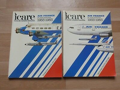 2  tomes ICARE HISTOIRE AIR FRANCE