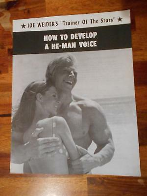 """JOE WEIDER """"How to Develop He-Man Voice"""" course muscle booklet DAVE DRAPER 1959"""
