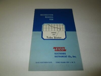 Eico Electronic Model 625 Tube Tester Instruction Manual