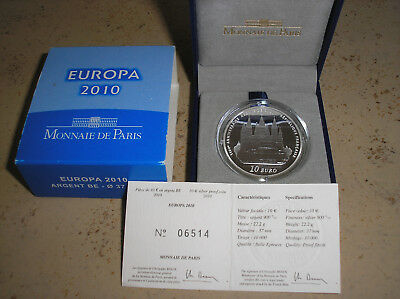 10 € EUROS BE ARGENT 2010 « EUROPA »  CLUNY Complet