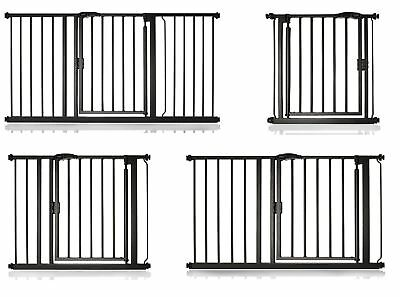 Bettacare Premium Pet Gate Matt Black Pressure Fit Dog Puppy Barrier 61cm- 154cm