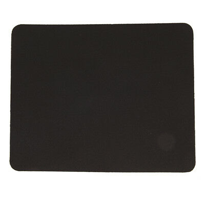 Black Fabric Mouse Mat Pad High Quality 3mm Thick Non Slip Foam 26cm x 21cm HF