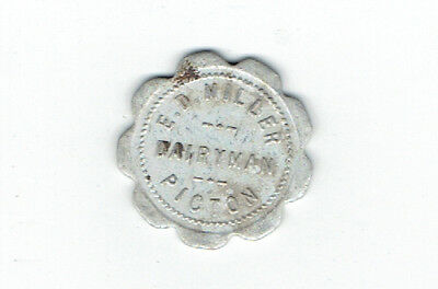 E D Miller Dairyman Good for 1 Quat of Milk Token - Picton Ontario