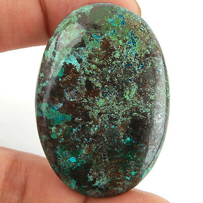 103 Cts Huge Rare Untreated Natural Blue Azurite Pendant Size Cabochon Gemstone