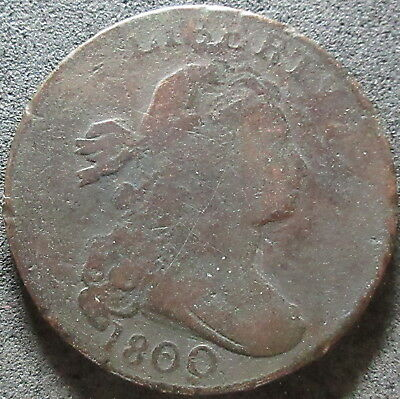 1800 Draped Bust Large Cent Coin