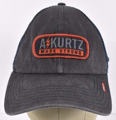 4f7b2688335 Navy Blue A kurtz Made Strong Embroidered Trucker hat cap Adjustable  Snapback